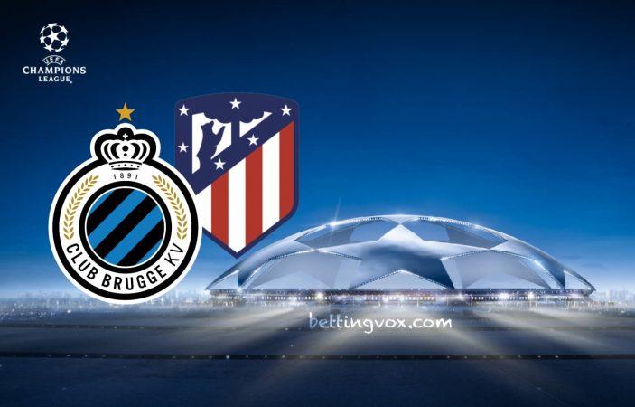 Club Bruges vs Atletico Madrid  Champions League 11/12/2018